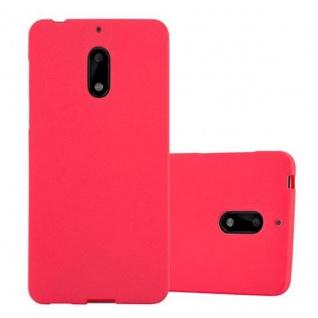 Cadorabo Hülle für Nokia 6 2017 in FROST ROT - Handyhülle aus flexiblem TPU Silikon - Silikonhülle Schutzhülle Ultra Slim Soft Back Cover Case Bumper