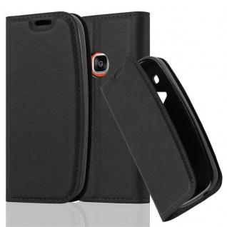 Cadorabo Hülle für Nokia 3310 in NACHT SCHWARZ - Handyhülle mit Magnetverschluss, Standfunktion und Kartenfach - Case Cover Schutzhülle Etui Tasche Book Klapp Style