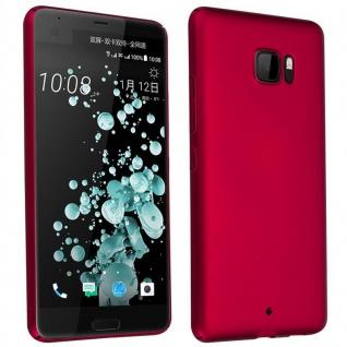 Cadorabo Hülle für HTC U ULTRA in METALL ROT ? Hardcase Handyhülle aus Plastik gegen Kratzer und Stöße ? Schutzhülle Bumper Ultra Slim Back Case Hard Cover