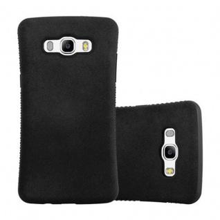 Cadorabo Hülle für Samsung Galaxy J5 2016 - Hülle in MINERAL SCHWARZ ? Small Waist Handyhülle mit rutschfestem Gummi-Rücken - Hard Case TPU Silikon Schutzhülle