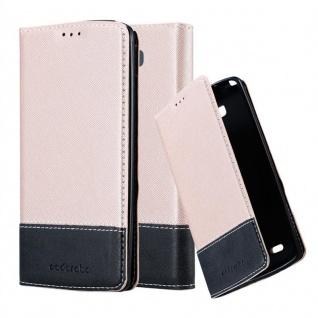 Cadorabo Hülle für LG G3 in ROSÉ GOLD SCHWARZ ? Handyhülle mit Magnetverschluss, Standfunktion und Kartenfach ? Case Cover Schutzhülle Etui Tasche Book Klapp Style