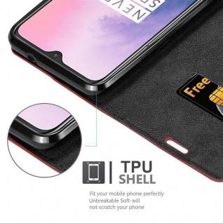 Cadorabo Hülle für OnePlus 7 in APFEL ROT Handyhülle mit Magnetverschluss, Standfunktion und Kartenfach Case Cover Schutzhülle Etui Tasche Book Klapp Style - Vorschau 5
