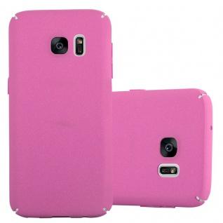 Cadorabo Hülle für Samsung Galaxy S7 in FROSTY PINK - Hardcase Handyhülle aus Plastik gegen Kratzer und Stöße - Schutzhülle Bumper Ultra Slim Back Case Hard Cover