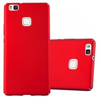 Cadorabo Hülle für Huawei P9 LITE in METALL ROT - Hardcase Handyhülle aus Plastik gegen Kratzer und Stöße - Schutzhülle Bumper Ultra Slim Back Case Hard Cover