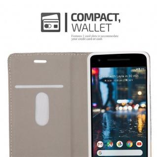 Cadorabo Hülle für Google Pixel 2 in HELL GRAU BRAUN - Handyhülle mit Magnetverschluss, Standfunktion und Kartenfach - Case Cover Schutzhülle Etui Tasche Book Klapp Style - Vorschau 5