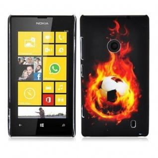 Cadorabo - Hard Cover für Nokia Lumia 520 - Case Cover Schutzhülle Bumper im Design: FOOTBALL