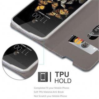 Cadorabo Hülle für LG K8 2016 in DUNKEL BLAU SCHWARZ - Handyhülle mit Magnetverschluss, Standfunktion und Kartenfach - Case Cover Schutzhülle Etui Tasche Book Klapp Style - Vorschau 4