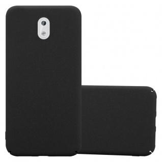 Cadorabo Hülle für Nokia 3 2017 in FROSTY SCHWARZ - Hardcase Handyhülle aus Plastik gegen Kratzer und Stöße - Schutzhülle Bumper Ultra Slim Back Case Hard Cover