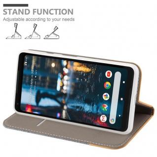 Cadorabo Hülle für Google Pixel 2 XL in HELL GRAU BRAUN - Handyhülle mit Magnetverschluss, Standfunktion und Kartenfach - Case Cover Schutzhülle Etui Tasche Book Klapp Style - Vorschau 4