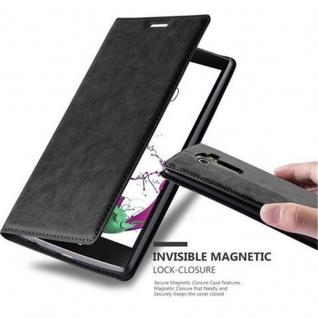 Cadorabo Hülle für LG G4 / G4 PLUS in NACHT SCHWARZ - Handyhülle mit Magnetverschluss, Standfunktion und Kartenfach - Case Cover Schutzhülle Etui Tasche Book Klapp Style