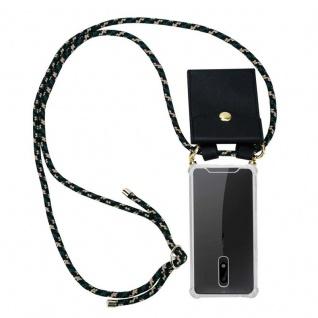 Cadorabo Handy Kette für Nokia 5 2017 in CAMOUFLAGE Silikon Necklace Umhänge Hülle mit Gold Ringen, Kordel Band Schnur und abnehmbarem Etui Schutzhülle