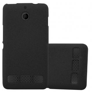 Cadorabo Hülle für Sony Xperia E1 in FROST SCHWARZ - Handyhülle aus flexiblem TPU Silikon - Silikonhülle Schutzhülle Ultra Slim Soft Back Cover Case Bumper