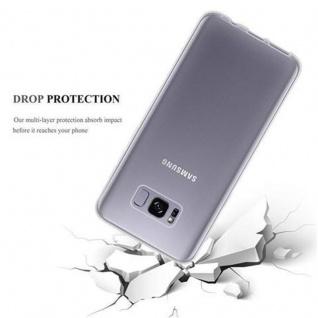 Cadorabo Hülle für Samsung Galaxy S8 in VOLL TRANSPARENT - Handyhülle aus flexiblem TPU Silikon - Silikonhülle Schutzhülle Ultra Slim Soft Back Cover Case Bumper - Vorschau 3