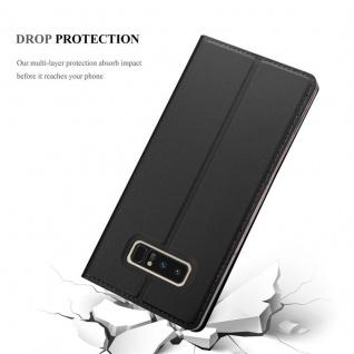 Cadorabo Hülle für Samsung Galaxy NOTE 8 in CLASSY SCHWARZ - Handyhülle mit Magnetverschluss, Standfunktion und Kartenfach - Case Cover Schutzhülle Etui Tasche Book Klapp Style - Vorschau 5