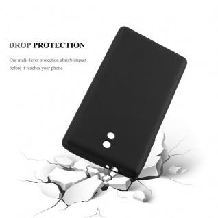 Cadorabo Hülle für Nokia 3 2017 in METALLIC SCHWARZ - Handyhülle aus flexiblem TPU Silikon - Silikonhülle Schutzhülle Ultra Slim Soft Back Cover Case Bumper - Vorschau 3