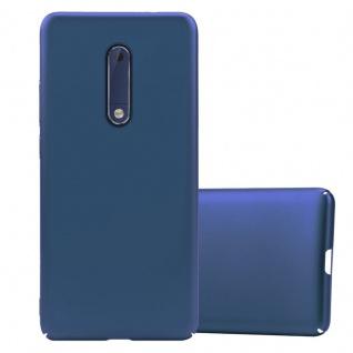 Cadorabo Hülle für Nokia 5 2017 in METALL BLAU ? Hardcase Handyhülle aus Plastik gegen Kratzer und Stöße ? Schutzhülle Bumper Ultra Slim Back Case Hard Cover