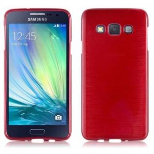 Cadorabo Hülle für Samsung Galaxy A3 2015 in ROT - Handyhülle aus flexiblem TPU Silikon - Silikonhülle Schutzhülle Ultra Slim Soft Back Cover Case Bumper