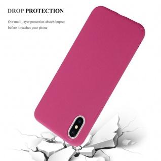 Cadorabo Hülle für Apple iPhone X / XS in FROSTY PINK - Hardcase Handyhülle aus Plastik gegen Kratzer und Stöße - Schutzhülle Bumper Ultra Slim Back Case Hard Cover - Vorschau 4