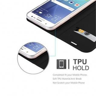 Cadorabo Hülle für Samsung Galaxy J5 2015 in CLASSY SCHWARZ - Handyhülle mit Magnetverschluss, Standfunktion und Kartenfach - Case Cover Schutzhülle Etui Tasche Book Klapp Style - Vorschau 2
