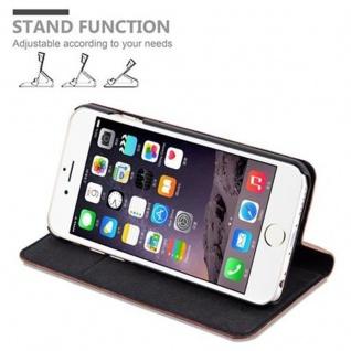 Cadorabo Hülle für Apple iPhone 6 PLUS / iPhone 6S PLUS in CAPPUCCINO BRAUN - Handyhülle mit Magnetverschluss, Standfunktion und Kartenfach - Case Cover Schutzhülle Etui Tasche Book Klapp Style - Vorschau 4
