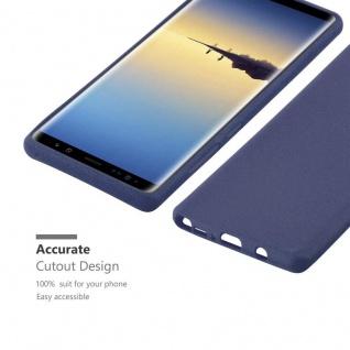 Cadorabo Hülle für Samsung Galaxy NOTE 8 in FROST DUNKEL BLAU - Handyhülle aus flexiblem TPU Silikon - Silikonhülle Schutzhülle Ultra Slim Soft Back Cover Case Bumper - Vorschau 2