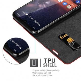 Cadorabo Hülle für Nokia 3.2 in APFEL ROT Handyhülle mit Magnetverschluss, Standfunktion und Kartenfach Case Cover Schutzhülle Etui Tasche Book Klapp Style - Vorschau 5