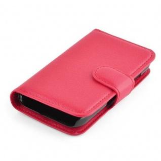 Cadorabo Hülle für Samsung Galaxy YOUNG 2 in KARMIN ROT - Handyhülle mit Magnetverschluss, Standfunktion und Kartenfach - Case Cover Schutzhülle Etui Tasche Book Klapp Style - Vorschau 3