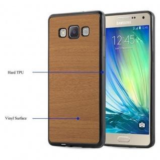 Cadorabo Hülle für Samsung Galaxy A3 2015 in WOODEN BRAUN - Handyhülle aus flexiblem TPU Silikon - Silikonhülle Schutzhülle Ultra Slim Soft Back Cover Case Bumper - Vorschau 4