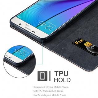 Cadorabo Hülle für Samsung Galaxy NOTE 5 in ROSÉ GOLD SCHWARZ ? Handyhülle mit Magnetverschluss, Standfunktion und Kartenfach ? Case Cover Schutzhülle Etui Tasche Book Klapp Style - Vorschau 2