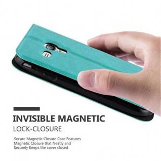 Cadorabo Hülle für Samsung Galaxy S3 MINI in MINT TÜRKIS - Handyhülle mit Magnetverschluss, Standfunktion und 2 Sichtfenstern - Case Cover Schutzhülle Etui Tasche Book Klapp Style - Vorschau 5