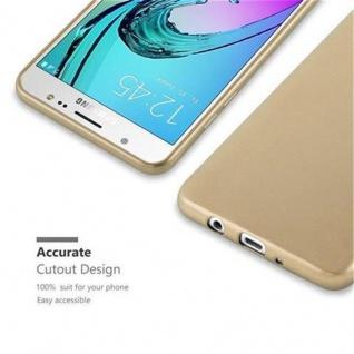 Cadorabo Hülle für Samsung Galaxy J5 2016 in METALLIC GOLD - Handyhülle aus flexiblem TPU Silikon - Silikonhülle Schutzhülle Ultra Slim Soft Back Cover Case Bumper - Vorschau 2