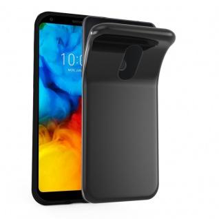 Cadorabo Hülle für LG Q7a in SCHWARZ - Handyhülle aus flexiblem TPU Silikon - Silikonhülle Schutzhülle Ultra Slim Soft Back Cover Case Bumper