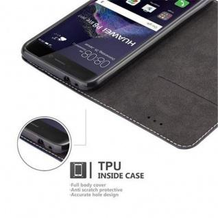 Cadorabo Hülle für Huawei P8 LITE 2017 in BLAU BRAUN ? Handyhülle mit Magnetverschluss, Standfunktion und Kartenfach ? Case Cover Schutzhülle Etui Tasche Book Klapp Style - Vorschau 3