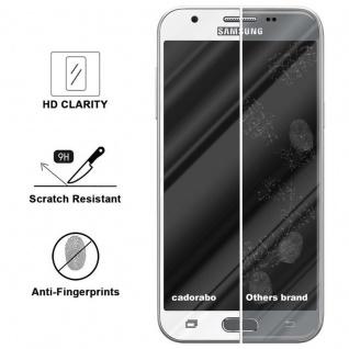Cadorabo Vollbild Panzer Folie für Samsung Galaxy J3 2017 - Schutzfolie in TRANSPARENT mit WEISS - Gehärtetes (Tempered) Display-Schutzglas in 9H Härte mit 3D Touch Kompatibilität - Vorschau 3