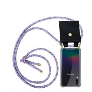 Cadorabo Handy Kette für Samsung Galaxy A70 in UNICORN Silikon Necklace Umhänge Hülle mit Gold Ringen, Kordel Band Schnur und abnehmbarem Etui Schutzhülle