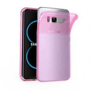 Cadorabo Hülle für Samsung Galaxy S8 in TRANSPARENT PINK - Handyhülle aus flexiblem TPU Silikon - Silikonhülle Schutzhülle Ultra Slim Soft Back Cover Case Bumper