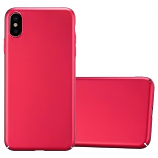 Cadorabo Hülle für Apple iPhone XS MAX in METALL ROT - Hardcase Handyhülle aus Plastik gegen Kratzer und Stöße - Schutzhülle Bumper Ultra Slim Back Case Hard Cover