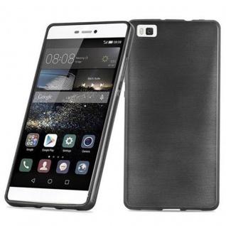 Cadorabo Hülle für Huawei P8 LITE 2015 in SCHWARZ - Handyhülle aus flexiblem TPU Silikon - Silikonhülle Schutzhülle Ultra Slim Soft Back Cover Case Bumper