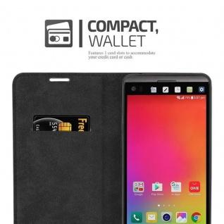 Cadorabo Hülle für LG V20 in APFEL ROT Handyhülle mit Magnetverschluss, Standfunktion und Kartenfach Case Cover Schutzhülle Etui Tasche Book Klapp Style - Vorschau 5