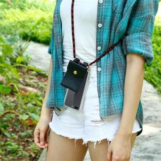 Cadorabo Handy Kette für OnePlus 5 in SCHWARZ ROT Silikon Necklace Umhänge Hülle mit Gold Ringen, Kordel Band Schnur und abnehmbarem Etui Schutzhülle - Vorschau 5