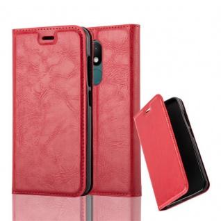 Cadorabo Hülle für WIKO WIM LITE in APFEL ROT Handyhülle mit Magnetverschluss, Standfunktion und Kartenfach Case Cover Schutzhülle Etui Tasche Book Klapp Style