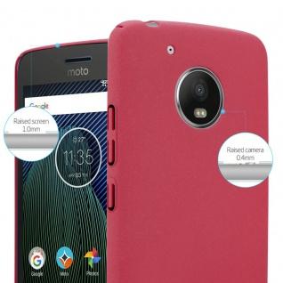 Cadorabo Hülle für Motorola MOTO G5 in FROSTY ROT - Hardcase Handyhülle aus Plastik gegen Kratzer und Stöße - Schutzhülle Bumper Ultra Slim Back Case Hard Cover - Vorschau 3