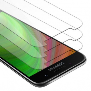 Cadorabo 3x Panzer Folie für Samsung Galaxy A5 2017 - Schutzfolie in KRISTALL KLAR - 3er Pack Gehärtetes (Tempered) Display-Schutzglas in 9H Härte mit 3D Touch Kompatibilität