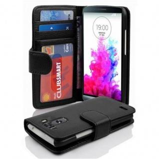 Cadorabo Hülle für LG G3 in OXID SCHWARZ ? Handyhülle mit Magnetverschluss und 3 Kartenfächern ? Case Cover Schutzhülle Etui Tasche Book Klapp Style