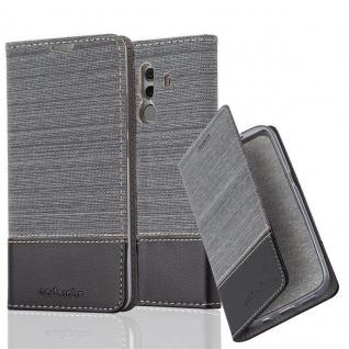 Cadorabo Hülle für Huawei MATE 10 PRO in GRAU SCHWARZ - Handyhülle mit Magnetverschluss, Standfunktion und Kartenfach - Case Cover Schutzhülle Etui Tasche Book Klapp Style