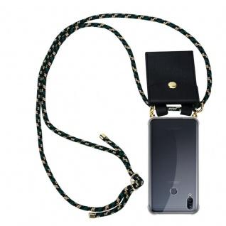 Cadorabo Handy Kette für Asus ZenFone Max M2 in CAMOUFLAGE - Silikon Necklace Umhänge Hülle mit Gold Ringen, Kordel Band Schnur und abnehmbarem Etui ? Schutzhülle