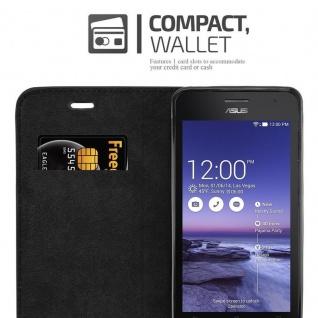 Cadorabo Hülle für Asus ZenFone 5 2014 in NACHT SCHWARZ - Handyhülle mit Magnetverschluss, Standfunktion und Kartenfach - Case Cover Schutzhülle Etui Tasche Book Klapp Style - Vorschau 4