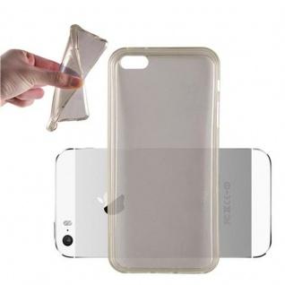 Cadorabo Hülle für Apple iPhone 5 / iPhone 5S / iPhone SE - Hülle in TRANSPARENT SCHWARZ ? Handyhülle aus TPU Silikon im Ultra Slim 'AIR' Design - Ultra Slim Soft Backcover Case Bumper