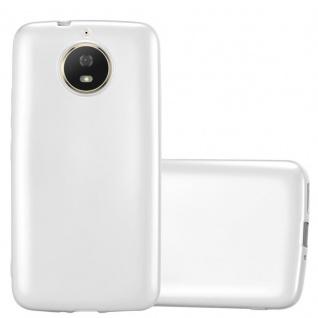 Cadorabo Hülle für Motorola MOTO G5S in METALLIC SILBER - Handyhülle aus flexiblem TPU Silikon - Silikonhülle Schutzhülle Ultra Slim Soft Back Cover Case Bumper