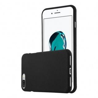 Cadorabo Hülle für Apple iPhone 8 PLUS / iPhone 7 PLUS / iPhone 7S PLUS - Hülle in FROST SCHWARZ ? Handyhülle aus TPU Silikon im matten Frosted Design - Ultra Slim Soft Backcover Case Bumper